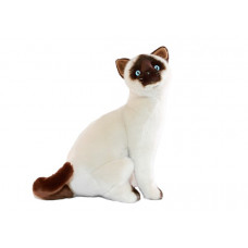 Siamese Plush Cat Sitting 36cm